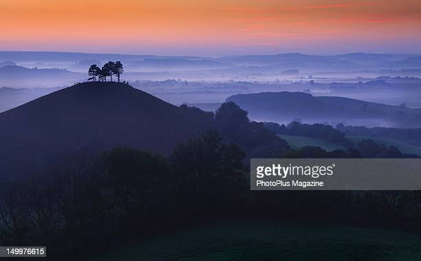 Sunrise over Colmers Hill in Dorset taken on October 2 2011
