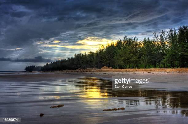 Sunrise over Green Beach