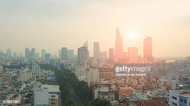 Sunrise over Ho Chi Minh City, Vietnam