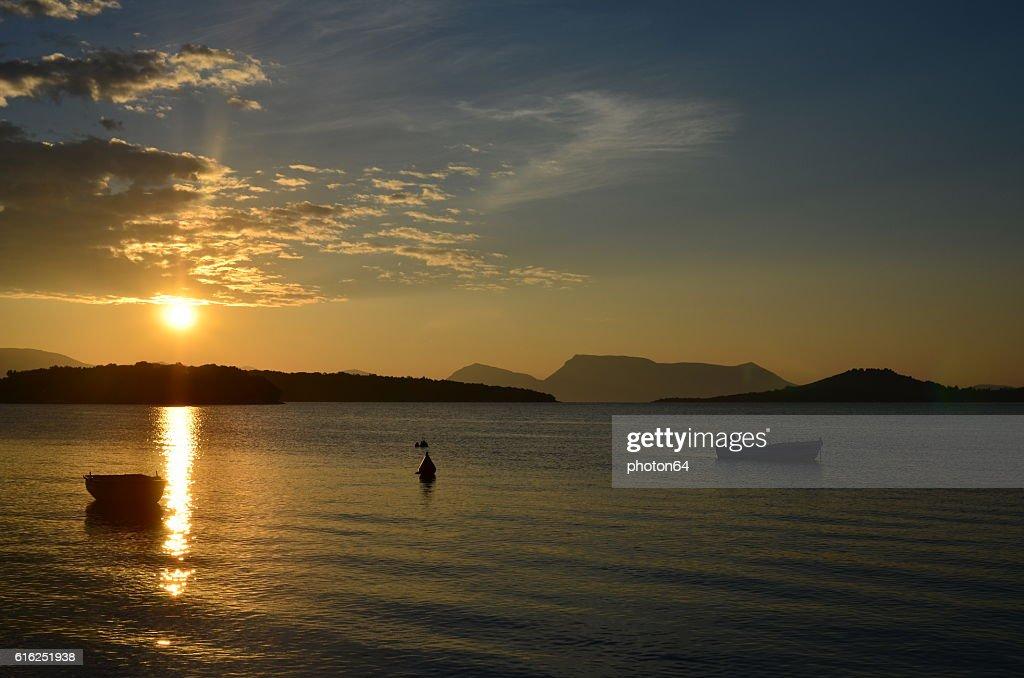 Sunrise over Ionian sea : Foto de stock