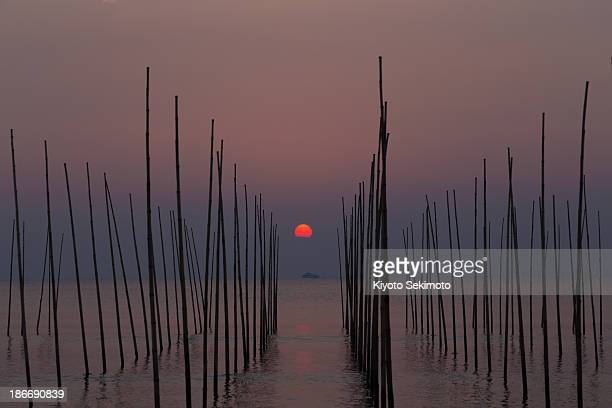 Sunrise over Ise-wan Bay