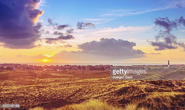 Sonnenaufgang über dem Kampen auf der Insel Sylt