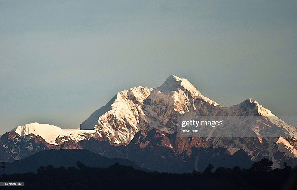 Kangchenjunga, the 3rd highest mountain in the world. It was first climbed in 1955 and only 187 people have ever reached the top, although out of respect for the mountain's immense religious significance, climbers have always stopped short of the summit.