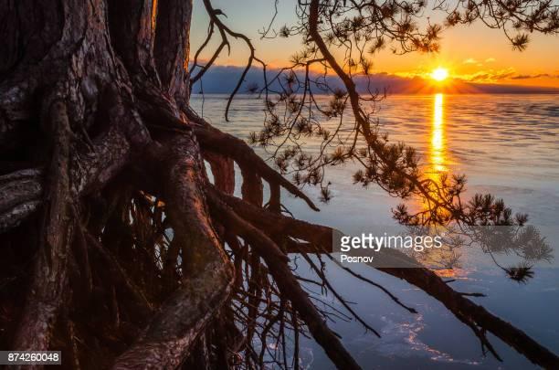 Sunrise over Lake Superior at Little Presque Isle