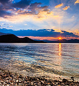 Sunrise over Lugu lake, Yunnan, China