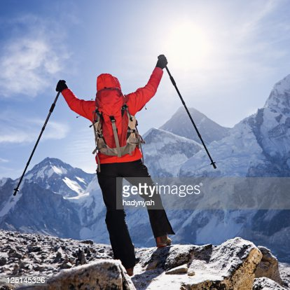 Sunrise over Mount Everest, Himalaya, Nepal : Stock Photo