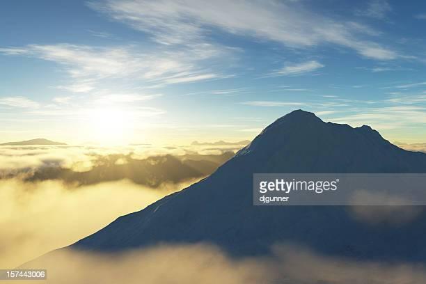 Alba sulle montagne