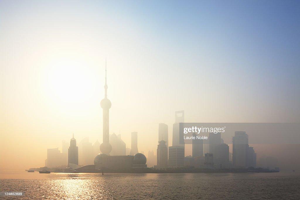 Sunrise over Pudong, Shanghai, China : Stock Photo