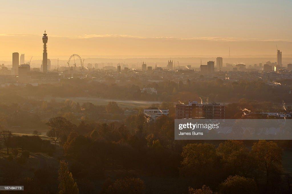 Sunrise over Regent's Park
