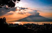 Sunrise Over Sakurajima