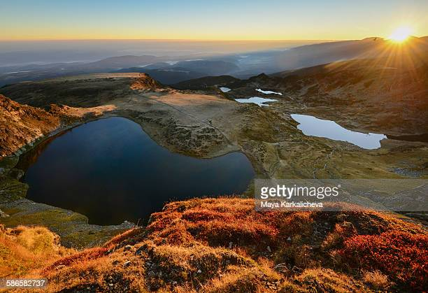 Sunrise over Seven Rila Lakes, Bulgaria