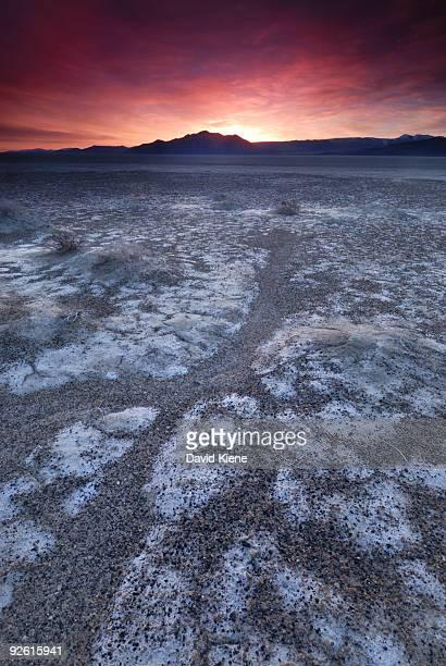 Sunrise over the Black Rock Playa, Nevada