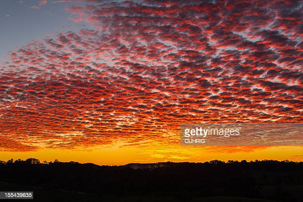sunrise over the Central Highlands in Queensland