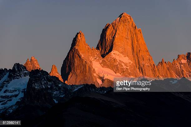 Sunrise over the Fitz Roy Mountain Range, El Chalt