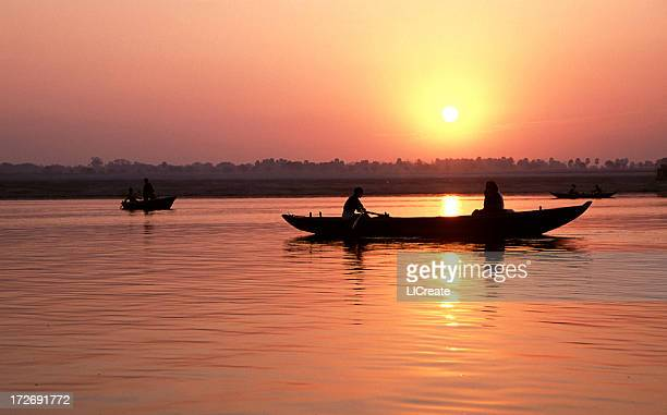 Sunrise over Varanasi, India