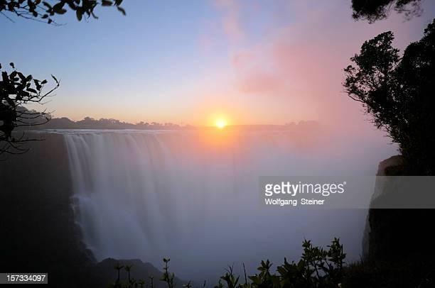 Sunrise over Victoria Falls