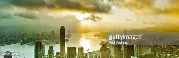Sunrise over Victoria harbour