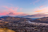 November sunrise over the Wenatchee Valley looking north from Saddle Rock