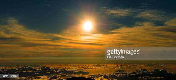 Sunrise Panorama Above the Clouds