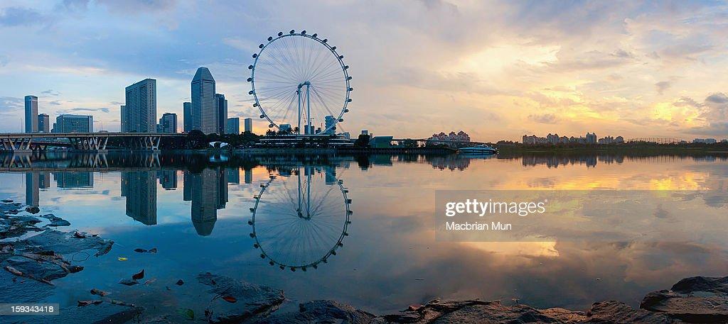 Sunrise reflection at Singapore