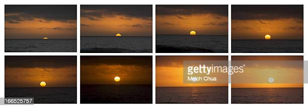 Sunrise sequence at the beach