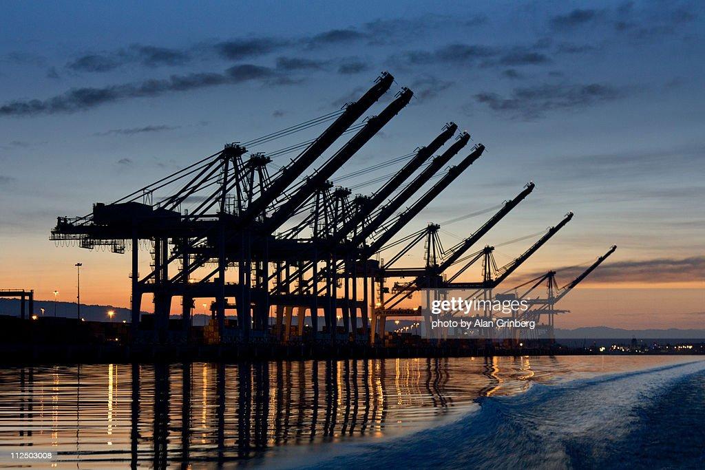 Sunrise Shipping Cranes
