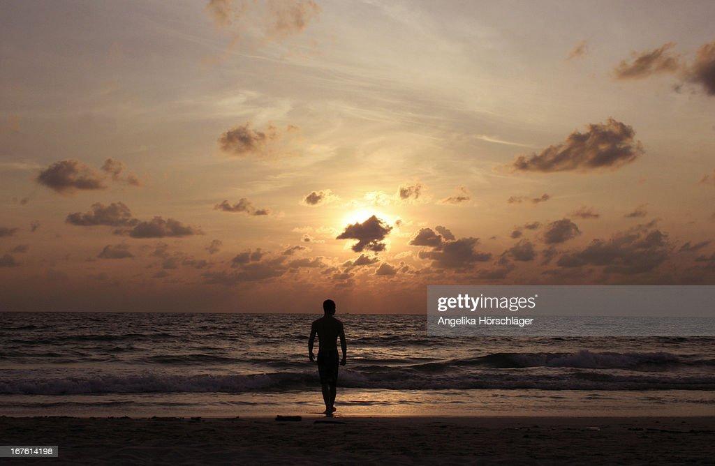 sunrise silhouette : Stock Photo