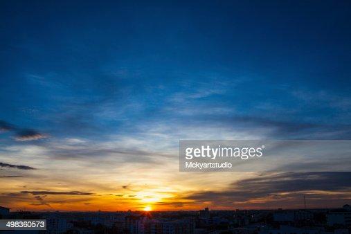 Sunrise sky in Bangkok Thailand : Stock Photo