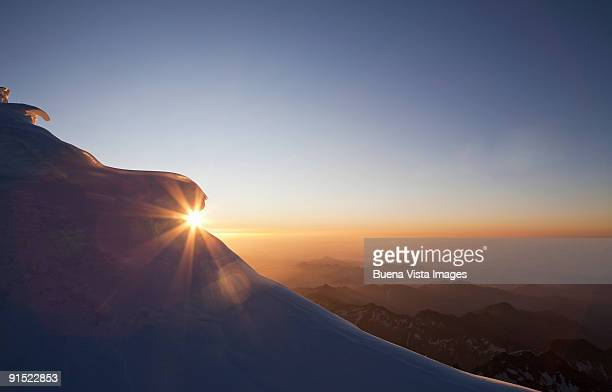 Sunrise view from Monte Rosa