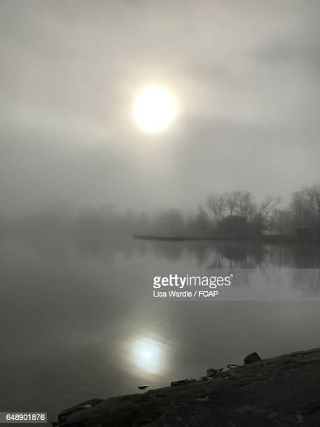 Sunrise view of a lake