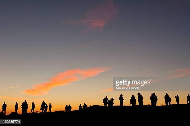 Sunrise worshippers on Cadillac Mountain.
