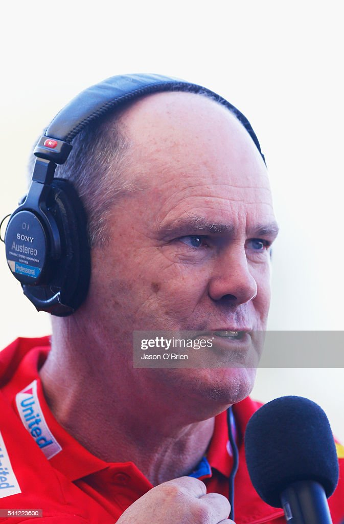 Suns coach <a gi-track='captionPersonalityLinkClicked' href=/galleries/search?phrase=Rodney+Eade&family=editorial&specificpeople=216380 ng-click='$event.stopPropagation()'>Rodney Eade</a> during the round 15 AFL match between the Gold Coast Suns and the St Kilda Saints at Metricon Stadium on July 2, 2016 in Gold Coast, Australia.