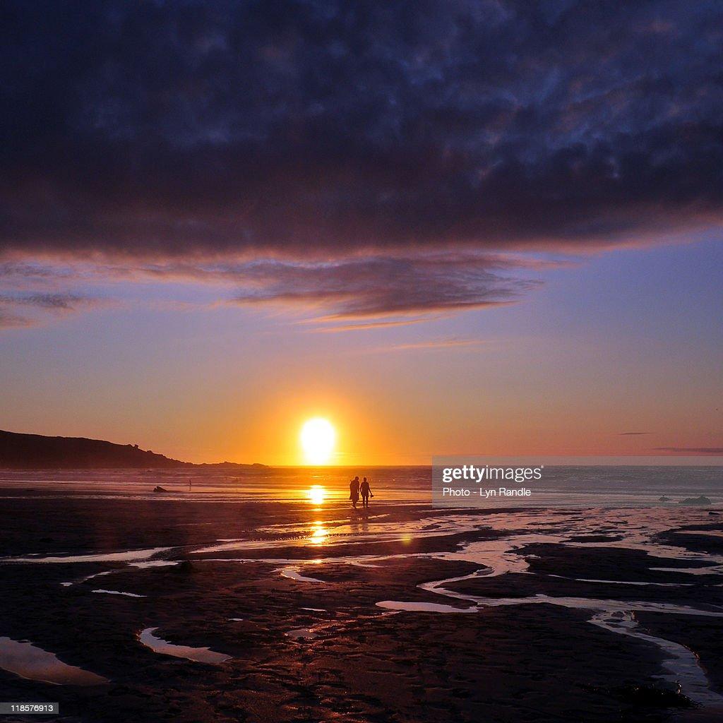 Suns Farewell : Stock Photo