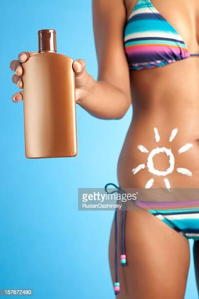 De la crème solaire.