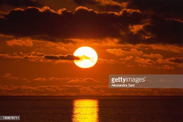 Sunset above the Indian Ocean, western coast, Australia