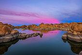 Sunset above Watson Lake in the Granite Dells of Prescott, Arizona