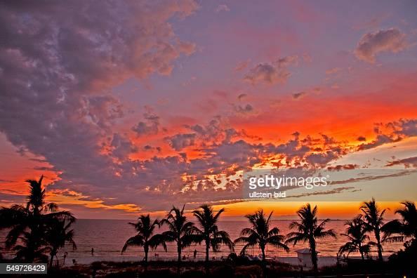 sunset Amerika USA Florida Sunshine StateAtlantic Ocean Caribbean Sea Fort Myers Beach
