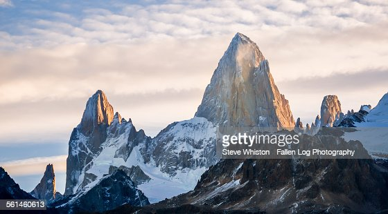 Sunset and clouds over Mt Fitzroy