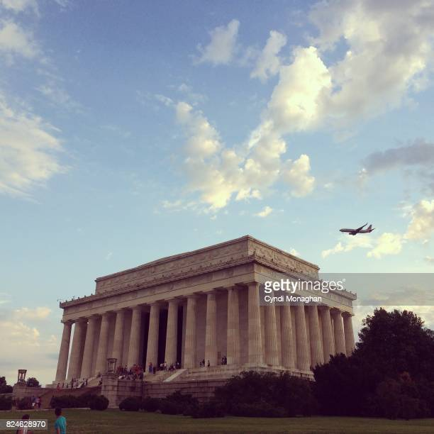 Sunset and Lincoln Memorial