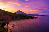 Sunset and Volcano