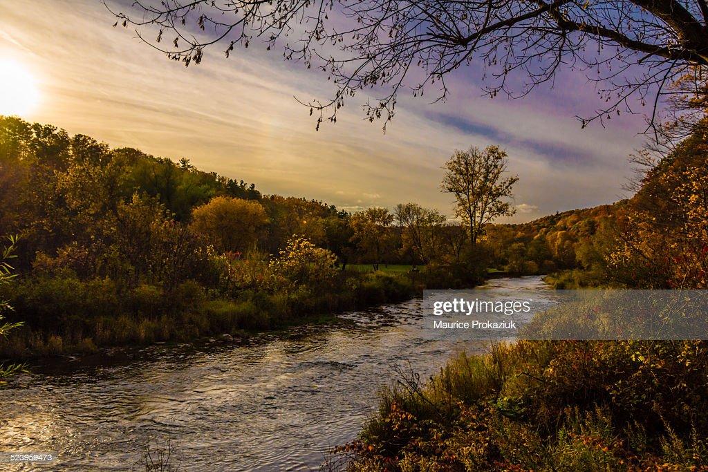 Sunset at 16 Mile Creek, Lions Valley, Oakville