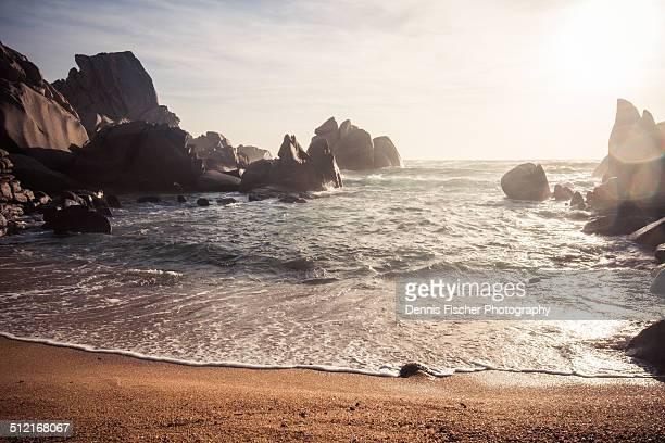 Sunset at a rocky beach on sardinia