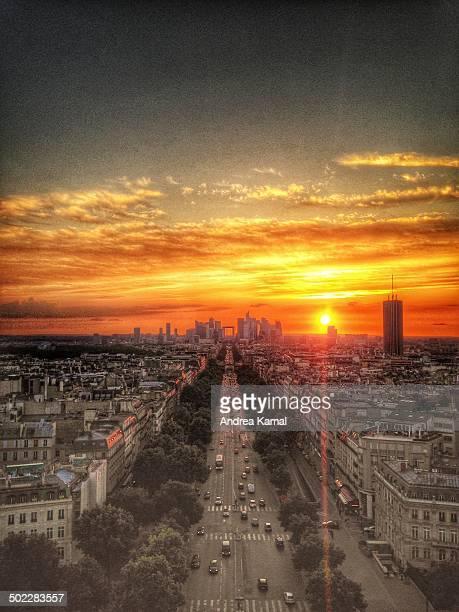 Sunset at Arc de Triomphe Paris