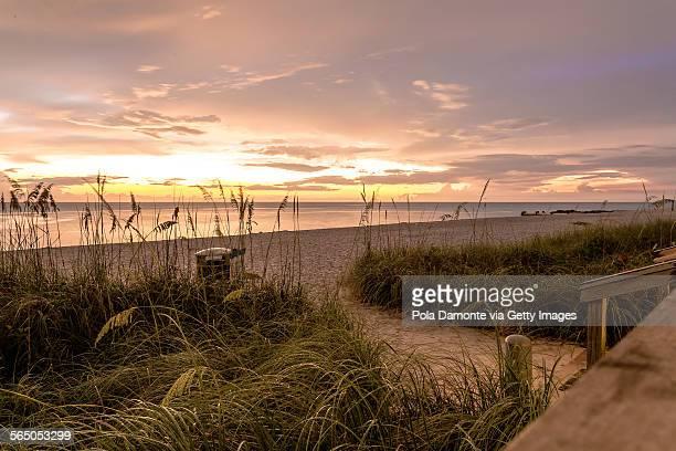 Sunset at beach, Naples, Florida, USA