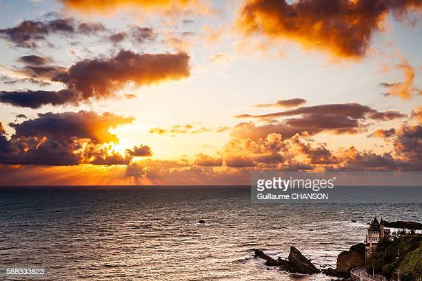 Sunset at Biarritz on the Villa Belza