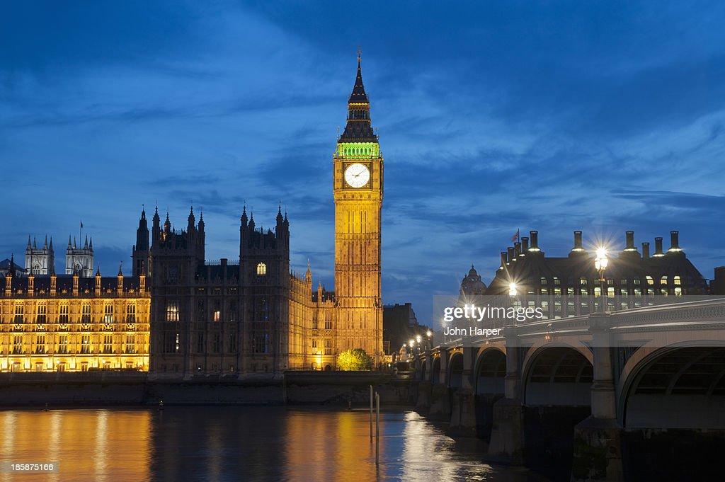 Sunset at Big Ben, London : Stock Photo