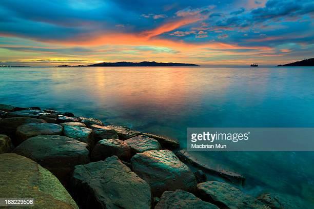 Sunset at Borneo, Sabah, Malaysia
