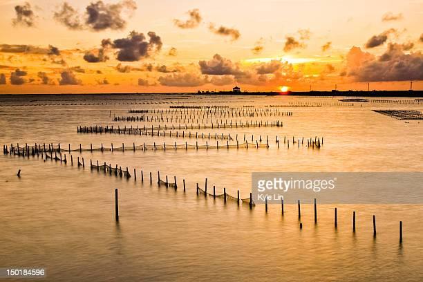 Sunset at Chigu lagoon
