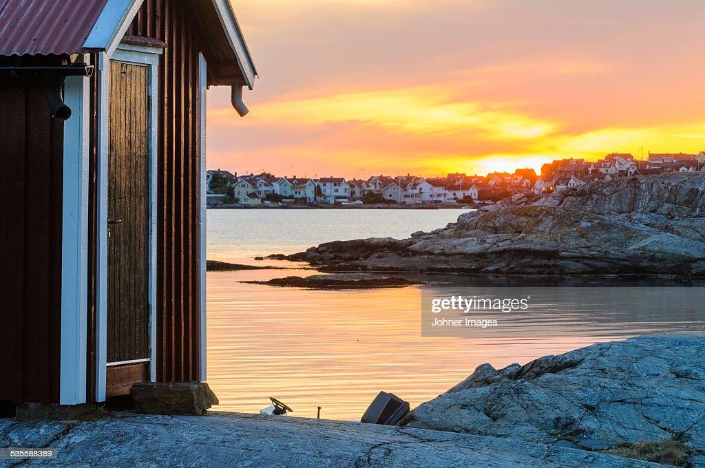 Sunset at coastline