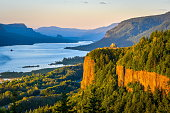 Sunset At Columbia River Gorge
